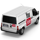 Back, youtube Black icon