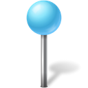 mapmarker, Ball, Azure Black icon