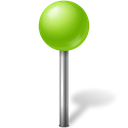 mapmarker, chartreuse, Ball Black icon