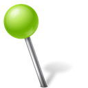 Ball, chartreuse, mapmarker, Left Black icon