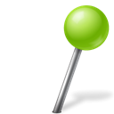 right, Ball, chartreuse, mapmarker Black icon