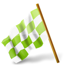 Left, Chequeredflag, chartreuse, mapmarker Black icon
