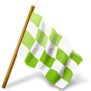 chartreuse, right, mapmarker, Chequeredflag Black icon