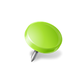 chartreuse, mapmarker, right, drawingpin Black icon