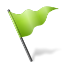 flag, chartreuse, mapmarker Black icon