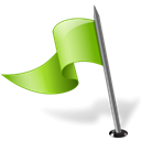 mapmarker, flag, Left, chartreuse Black icon