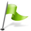 right, mapmarker, flag, chartreuse Black icon