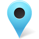 Azure, outside, mapmarker, marker Black icon