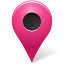 pink, mapmarker, marker, outside Black icon