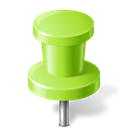 mapmarker, chartreuse, pushpin Black icon