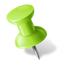 chartreuse, Left, pushpin, mapmarker Black icon