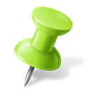 mapmarker, pushpin, chartreuse, right Black icon