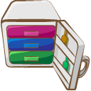 Zip, Compressed, Archive Gainsboro icon