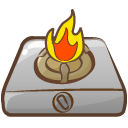 fire, Camping DarkGray icon