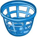 Basket, Laundry Teal icon