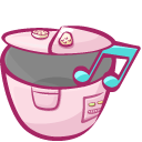 Cooker, music MistyRose icon