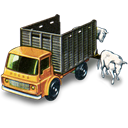 with, truck, Cattle Black icon