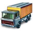 truck, Tipper, Daf, Container Black icon