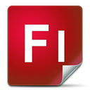 adobe, Flash Firebrick icon