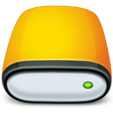 Removable, drive Gold icon