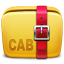 Folder, Cab, Archive Goldenrod icon