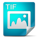 Filetype, Tif DarkCyan icon