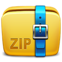 Folder, Archive, Zip Goldenrod icon