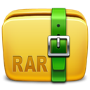 Folder, Archive, Rar Goldenrod icon