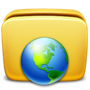 Folder, network Khaki icon