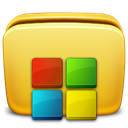 Folder, programs Khaki icon