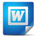 office, word SteelBlue icon