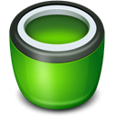Bin, Empty, recycle ForestGreen icon