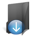 download, Folder Black icon