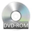 Dvd, rom Black icon