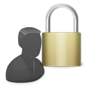 padlock, user, Control Black icon