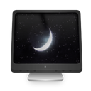 Sleeping, Computer Black icon