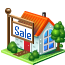 house, sale Black icon