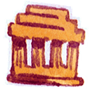 Library SandyBrown icon