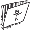 Folder, Drawings DarkSlateGray icon