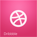 Px, dribbble PaleVioletRed icon