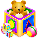 kids, Games Black icon