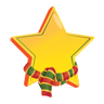 christmas, star Gold icon