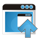 upload, Up, Application SteelBlue icon