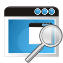 zoom, search, Application SteelBlue icon