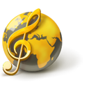 world, global, music DarkOliveGreen icon