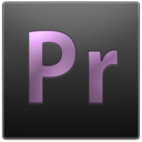 adobe, Premiere, Pr DarkSlateGray icon