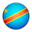 democratic, flag, congo, republic, the, of Black icon
