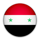 Syria, flag, of Black icon