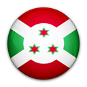 Burundi, of, flag Black icon