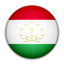 of, Tajikistan, flag Black icon